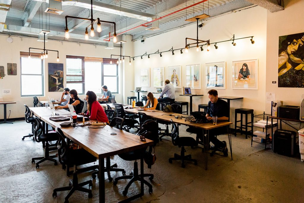 Coworking Spaces In Greenwood Heights BrooklynWorks At - Communal work table